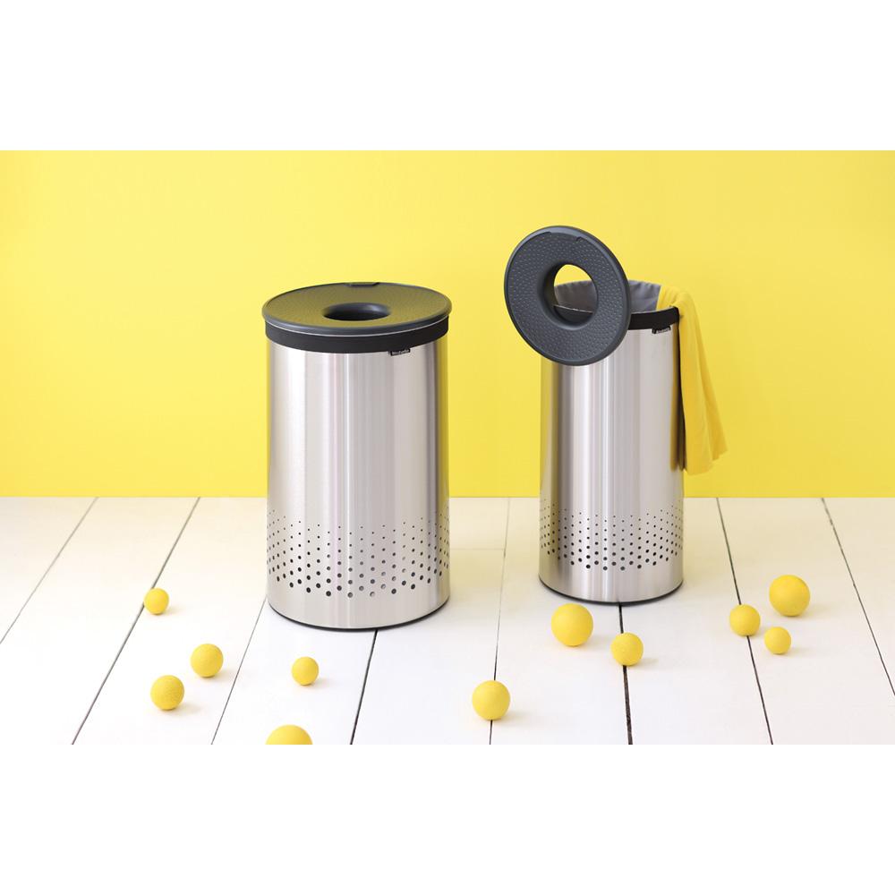 Кош за пране Brabantia 35L, Matt Steel, пластмасов капак(2)