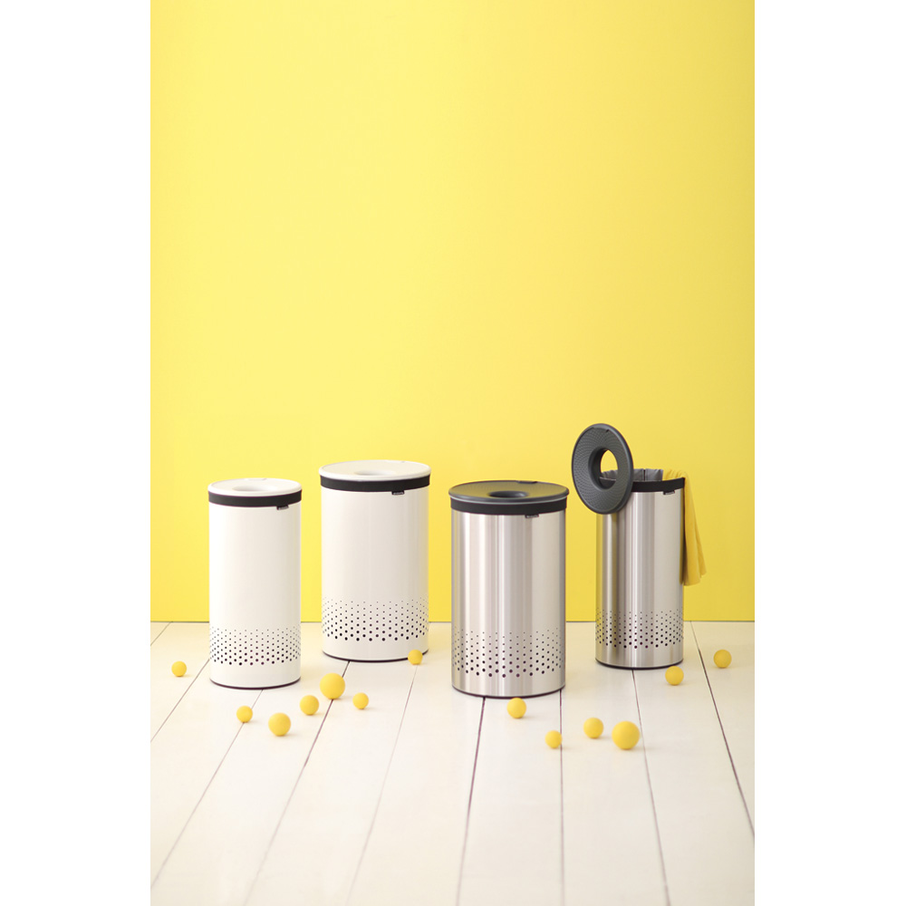 Кош за пране Brabantia 35L, Matt Steel, пластмасов капак(3)