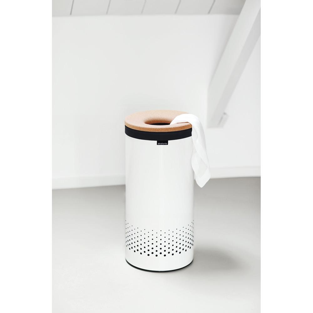 Кош за пране Brabantia 35L, White, корков капак(1)