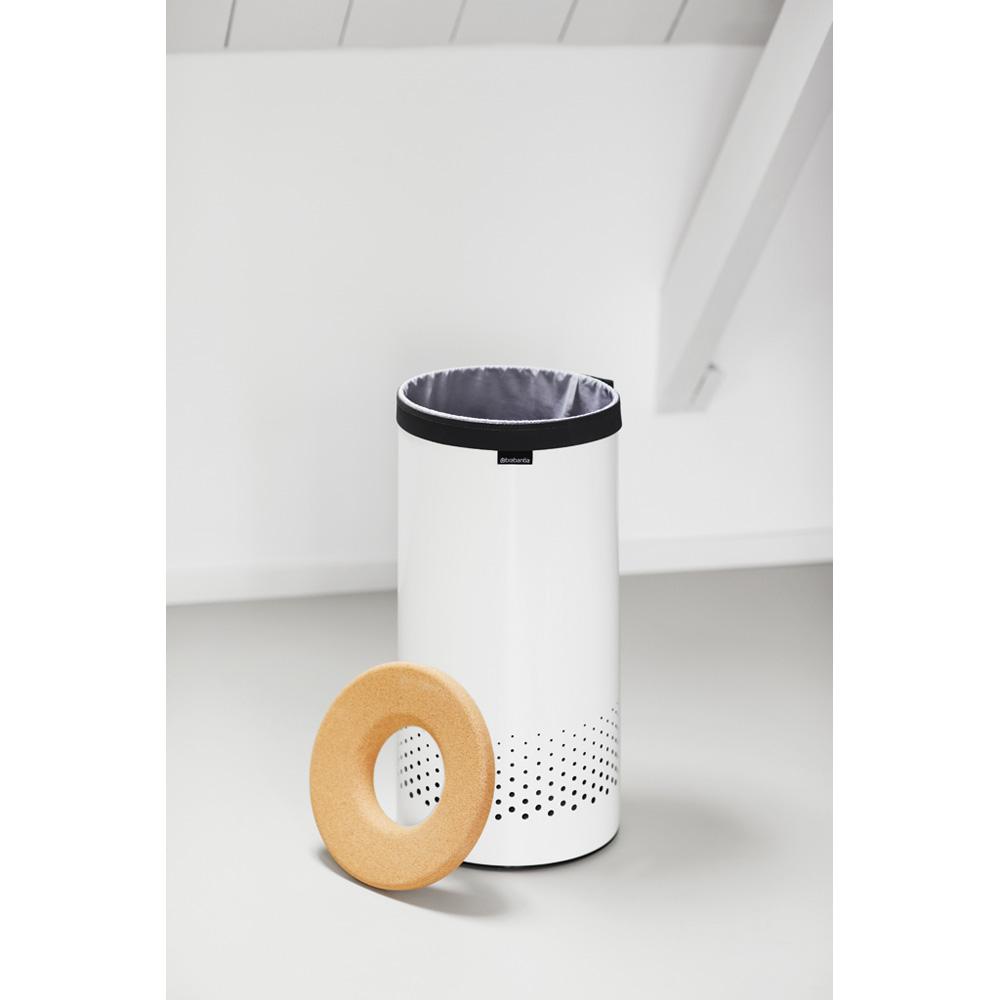 Кош за пране Brabantia 35L, White, корков капак(2)