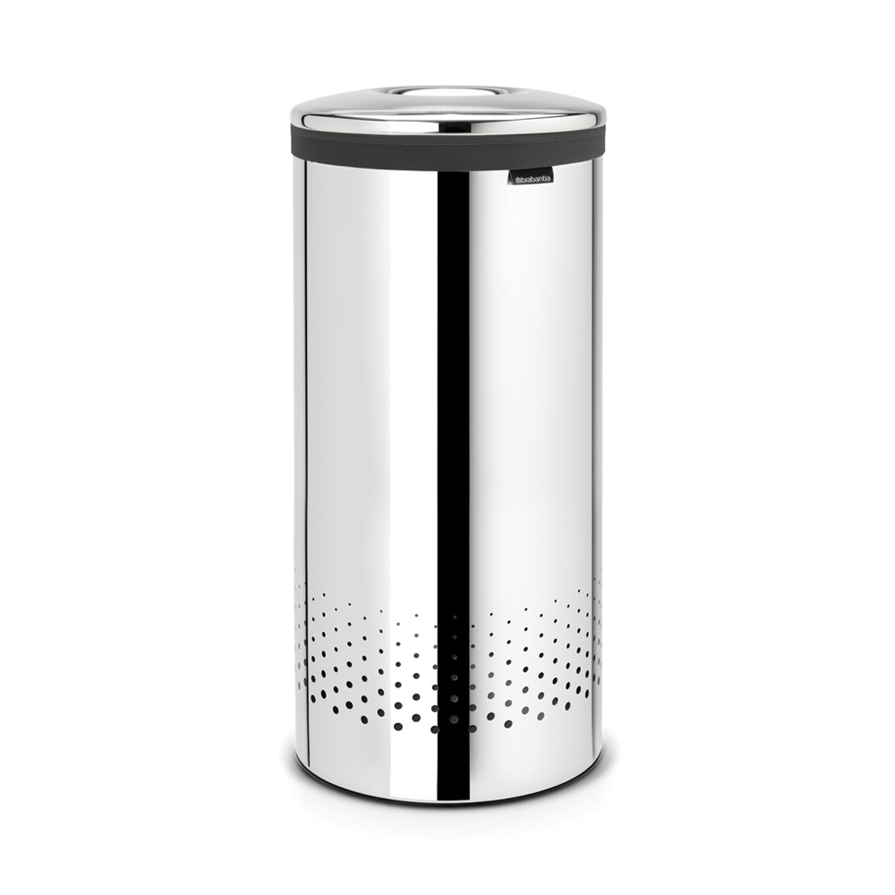 Кош за пране Brabantia 35L, Brilliant Steel, метален капак
