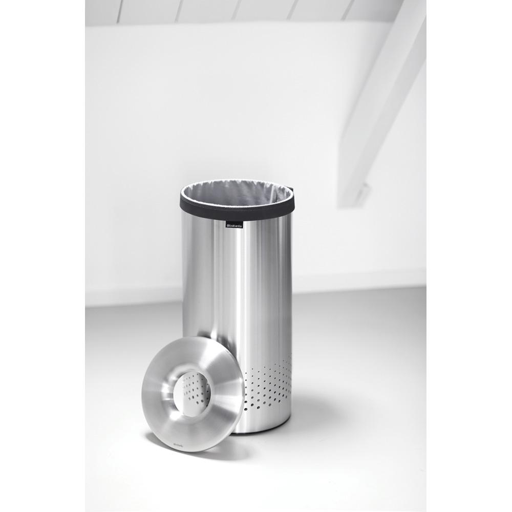 Кош за пране Brabantia 35L, Matt Steel, метален капак(2)