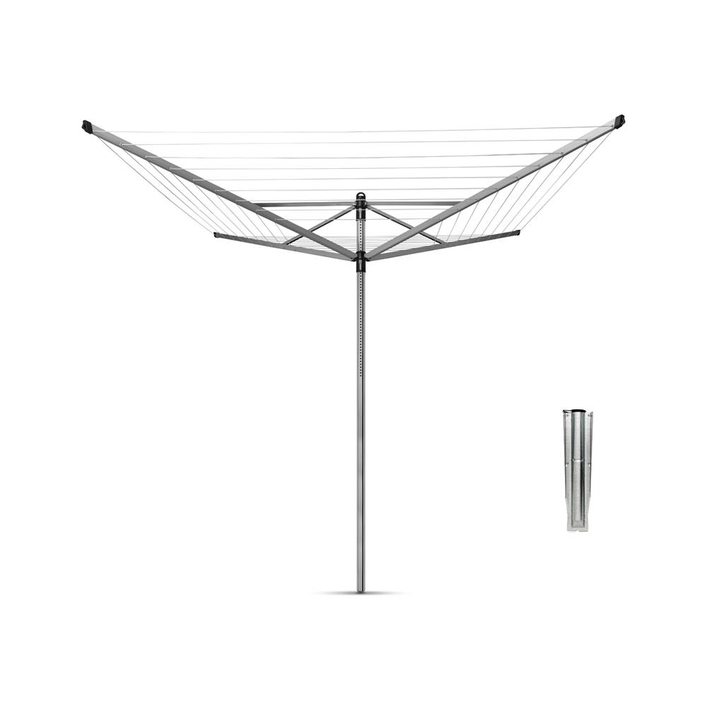 Външен простор Brabantia Lift-O-Matic 60m, метален шиш за вкопаване или бетониране